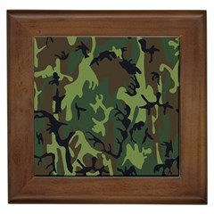Military Camouflage Pattern Framed Tiles