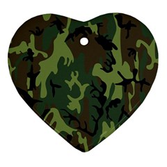 Military Camouflage Pattern Ornament (heart)