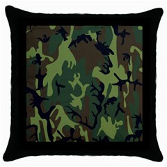 Military Camouflage Pattern Throw Pillow Case (black)