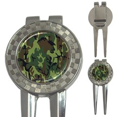 Military Camouflage Pattern 3 In 1 Golf Divots