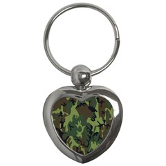 Military Camouflage Pattern Key Chains (Heart)