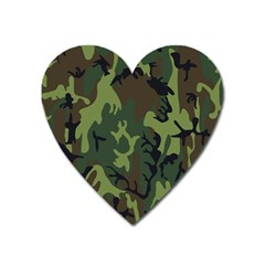 Military Camouflage Pattern Heart Magnet