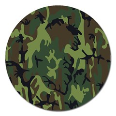 Military Camouflage Pattern Magnet 5  (Round)