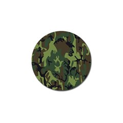 Military Camouflage Pattern Golf Ball Marker