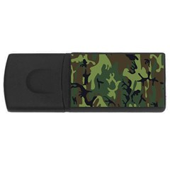 Military Camouflage Pattern USB Flash Drive Rectangular (1 GB)