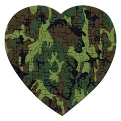 Military Camouflage Pattern Jigsaw Puzzle (Heart)