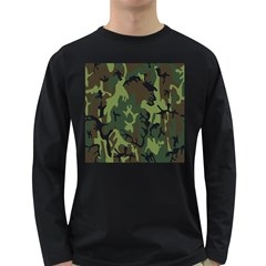Military Camouflage Pattern Long Sleeve Dark T Shirts