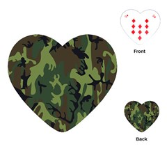 Military Camouflage Pattern Playing Cards (Heart)
