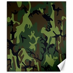 Military Camouflage Pattern Canvas 8  X 10