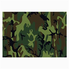 Military Camouflage Pattern Large Glasses Cloth (2 Side)