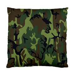 Military Camouflage Pattern Standard Cushion Case (two Sides)