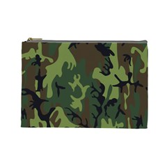 Military Camouflage Pattern Cosmetic Bag (large)
