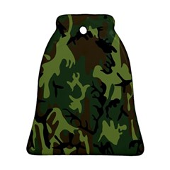 Military Camouflage Pattern Bell Ornament (two Sides)