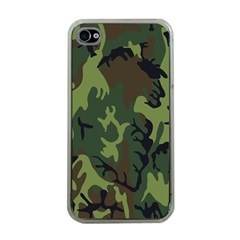 Military Camouflage Pattern Apple iPhone 4 Case (Clear)