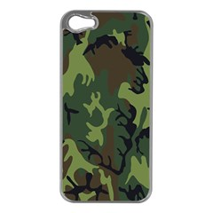Military Camouflage Pattern Apple iPhone 5 Case (Silver)