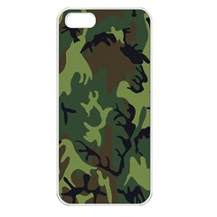 Military Camouflage Pattern Apple iPhone 5 Seamless Case (White)