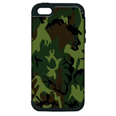 Military Camouflage Pattern Apple iPhone 5 Hardshell Case (PC+Silicone)
