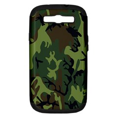 Military Camouflage Pattern Samsung Galaxy S III Hardshell Case (PC+Silicone)