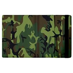 Military Camouflage Pattern Apple iPad 2 Flip Case