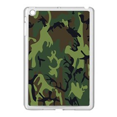 Military Camouflage Pattern Apple iPad Mini Case (White)