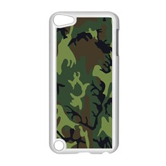 Military Camouflage Pattern Apple iPod Touch 5 Case (White)