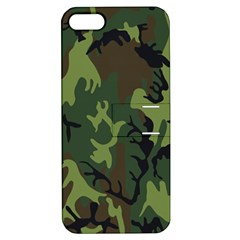 Military Camouflage Pattern Apple iPhone 5 Hardshell Case with Stand