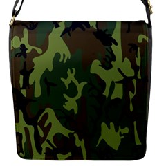 Military Camouflage Pattern Flap Messenger Bag (S)