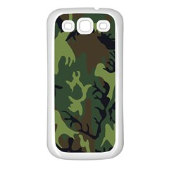 Military Camouflage Pattern Samsung Galaxy S3 Back Case (White)