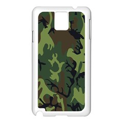 Military Camouflage Pattern Samsung Galaxy Note 3 N9005 Case (White)