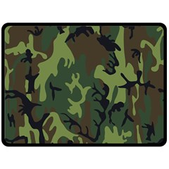 Military Camouflage Pattern Double Sided Fleece Blanket (Large)