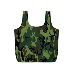 Military Camouflage Pattern Full Print Recycle Bags (S)