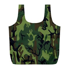 Military Camouflage Pattern Full Print Recycle Bags (l)