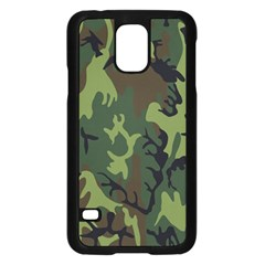 Military Camouflage Pattern Samsung Galaxy S5 Case (Black)