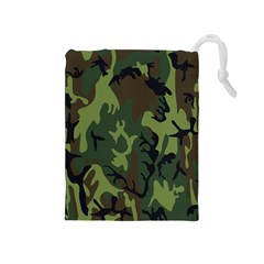 Military Camouflage Pattern Drawstring Pouches (Medium)