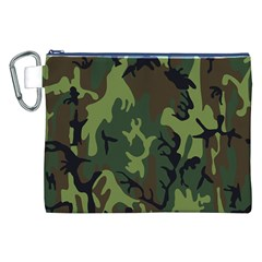 Military Camouflage Pattern Canvas Cosmetic Bag (xxl)