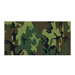 Military Camouflage Pattern Satin Wrap