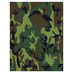 Military Camouflage Pattern Drawstring Bag (Large)