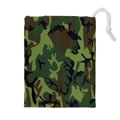 Military Camouflage Pattern Drawstring Pouches (extra Large)