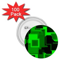 Green Cyber Glow Pattern 1.75  Buttons (100 pack)