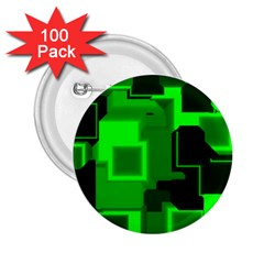 Green Cyber Glow Pattern 2 25  Buttons (100 Pack)