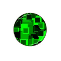 Green Cyber Glow Pattern Hat Clip Ball Marker (4 pack)