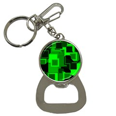 Green Cyber Glow Pattern Button Necklaces