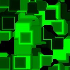 Green Cyber Glow Pattern Canvas 16  X 16