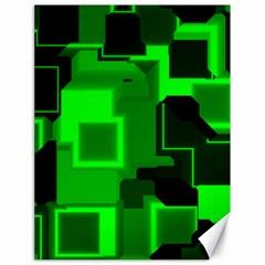 Green Cyber Glow Pattern Canvas 18  x 24