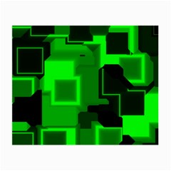 Green Cyber Glow Pattern Small Glasses Cloth (2 Side)
