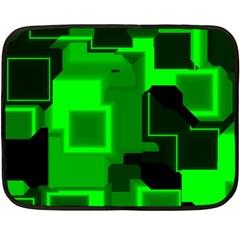 Green Cyber Glow Pattern Fleece Blanket (mini)