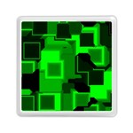 Green Cyber Glow Pattern Memory Card Reader (Square)  Front
