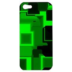Green Cyber Glow Pattern Apple iPhone 5 Hardshell Case