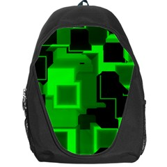 Green Cyber Glow Pattern Backpack Bag