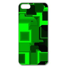 Green Cyber Glow Pattern Apple Seamless iPhone 5 Case (Clear)